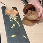 Nishiazabushirukuya - さわらのカルパッチョ、トーストにのせて