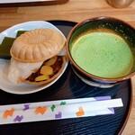 茶願寿cafe - ぜんざい茶漬け