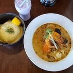 スープカレー チニタ - 旨みたっぷりシーフード+チーズon theライス