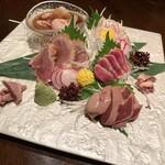 赤坂うのあん - 地鶏お造り5種盛り