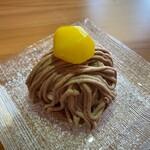 cafe こころひかる - 渋皮栗のモンブラン(450円)