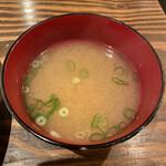 イチバンチョウ バル カフェ ド フウカ  - セットのお味噌汁