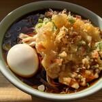 新井こう平製麺所 - 1.5玉 天ぷら・たまご入
