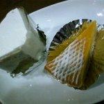 アゼリア - ほうれん草のシフォンケーキ、かぼちゃのチーズケーキ