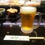 えんどう寿司 - 生ビール(プレモル)