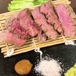 肉系居酒屋 肉十八番屋 - 大麦牛トウガラシ 880円
