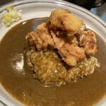 東インドカリー - 料理写真:小盛りの唐揚げカレー辛口
