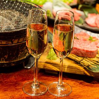 【記念日やお祝いに】ワイン・シャンパンをご用意