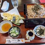 みのぜん - 料理写真:大ざるランチ(そば) と 穴子天ぷら