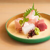 kappouhakutaka - 料理写真:刺身盛り合わせ(鯛、鰆、かつを、いか)