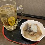 なごみ - ハイボールダブル500円+もつ煮 100円