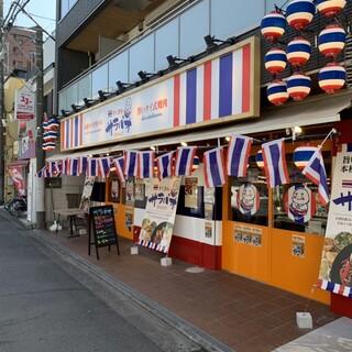 鶴間駅西口階段降りた目の前。迷わないお店