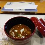 天婦羅ほり川 - エビのスープ