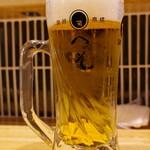 天ぷら・割鮮酒処 へそ - 生ビール!