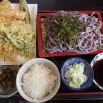 わらべ - 天ざる黒米うどん定食