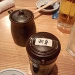 鈴むら 本店 - ちゃんと刺身醤油が。