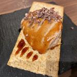 焼鳥とワイン ソバヤノニカイ - 自家製レバーのムース