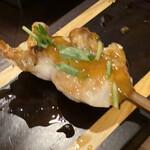 焼鳥とワイン ソバヤノニカイ - ふりそで 卵黄ソース
