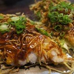 お好みキッチンK  - 肉玉そば(カレートッピング)