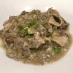 オステリア トレ パッツィ - ギアラとうずら豆の白ワイン煮込み