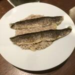 オステリア トレ パッツィ - 炙り秋刀魚と栗のリゾット チーズとバター