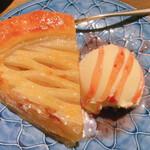 海鮮処 まる貝 - アップルパイ バニラアイス添え