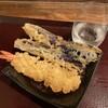 嵯峨谷 - 料理写真:天ぷらでポン酒。