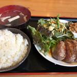 大衆肉居酒屋 ブルーキッチン - サーロインステーキ定食。