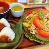 福本屋 - 料理写真:しろ焼きそばランチ(焼きおにぎり)¥1,100