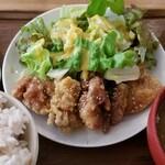 ニシクボ食堂 - 鶏バリバリ揚げ定食