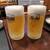 ろばた仁 - 生ビール×2