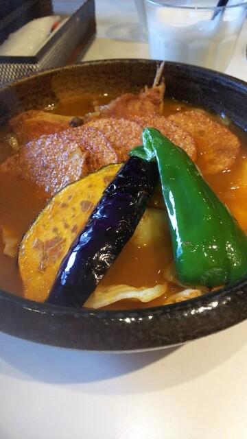 スープ 髭 カレー 男爵