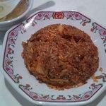 餃子の王将 - キムチ焼飯、食べる度に色が違う(笑)