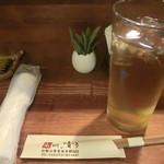 和 dining 清乃 - 冷えたお絞りに麦茶 箸は割り箸じゃないです