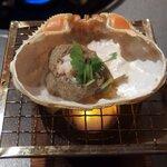 うお坐 - 料理写真:カニ味噌の甲羅焼