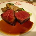 ビストロ オザミ - モモ肉ステーキ