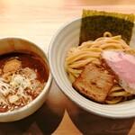 自家製麺 つきよみ - 料理写真:「魚介とんこつつけ麺(大)」900円