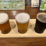 ふたこビール醸造所 - ・3種飲み比べセット 1,200円 (フタコエール、ハナミズキホワイト、コーヒースタウト +50円)