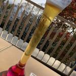高尾山ビアマウント - ドリンク写真:天狗ビール、ちょと飲んじまった