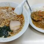 Nozawaya - 半カレーラーメン