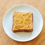 ハトバ - レモンピールとピーナッツバターのトースト