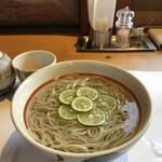 小来川 山帰来 - 2食目の冷し酢橘蕎麦