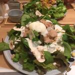 吉祥菓寮 - * たっぷり野菜プレート 炙りチキン 990円