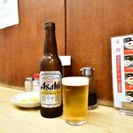 一芳亭 - 瓶ビール(小)@350円