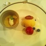 肝胆亭 - マンゴームース パッションフルーツのアイス