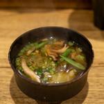 れんげ料理店 - 2020.11 野菜のお味噌汁(サービス)