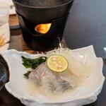Kitanadagyokyouchokusou toretateshokudou - 2020.11 鯛しゃぶ(よくばり鯛定食)