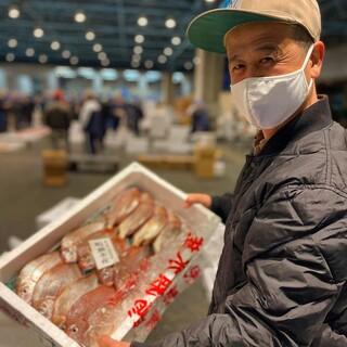 【その日一番の新鮮魚】魚市場から直送された新鮮な魚をご提供