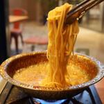 シュリンプシュリンプ - 贅沢10種の海老鍋 〆パスタ