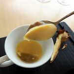 ランファン・キ・レーヴ - フランは、いわば洋風の茶碗蒸し。舞茸ペーストで出汁を効かせてます
